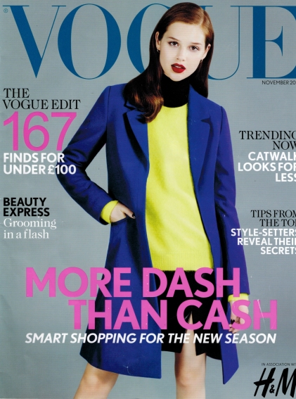 VOGUE UK insert Nov 2012 cover