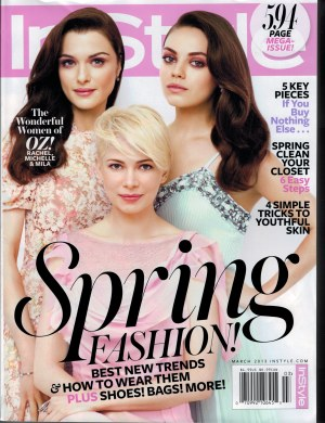 Instyle March 2013 Cover
